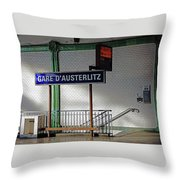 Gare D'austerlitz In Paris, France Throw Pillow