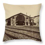 Gare De Longueau Throw Pillow
