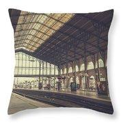Gare Du Nord Throw Pillow