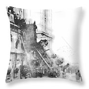 Gare Montparnasse 1895 Throw Pillow