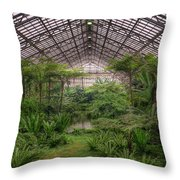 Garfield Park Conservatory Main Pond Throw Pillow