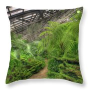 Garfield Park Conservatory Path Chicago Throw Pillow