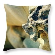 Gargoyle Coming Out Of The Rocks Gabriola Island. Throw Pillow