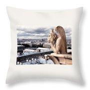 Gargoyle Of Notre Dame Throw Pillow