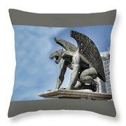 Gargoyle - Puente Del Regn Bridge - Valencia Spain Throw Pillow