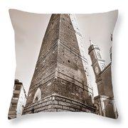 Garisenda Tower In Bologna Throw Pillow
