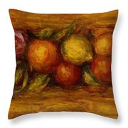 Garland Of Fruit And Flowers 1915 Throw Pillow
