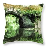Garlanded Arch Throw Pillow