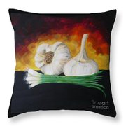Garlic And Onion Throw Pillow