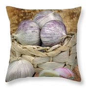 Garlic In The Basket Throw Pillow