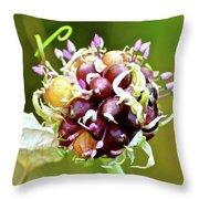Garlic Top Throw Pillow
