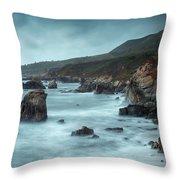 Garrapata Beach, Big Sur, California Throw Pillow