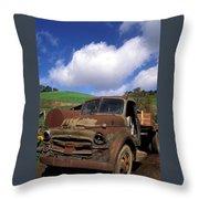 Garrod's Old Truck Throw Pillow