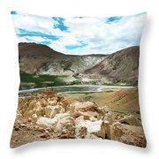 Garuda Valley Tibet Yantra.lv Throw Pillow