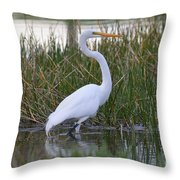 Garza Blanca Throw Pillow