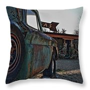 Gas And Truck Throw Pillow
