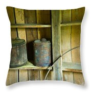 Gas Cans Long Forgotten Throw Pillow