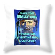 Gas Conservation Ww2 Poster Throw Pillow
