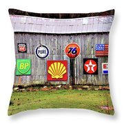 Gas From The Past Throw Pillow