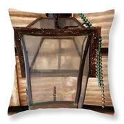 Gas Lamp French Quarter Throw Pillow