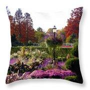 Gas Lamp In Garden Throw Pillow