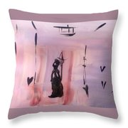 Gas Lighting  Throw Pillow