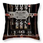 Gas Pump Meter Throw Pillow