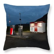 Gas Station In The Countryside, South Throw Pillow