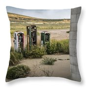 Gas Station Relics Throw Pillow