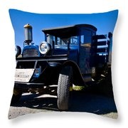 Gas Stop Of Old Throw Pillow