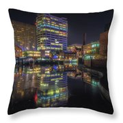 Gas Street Basin At Night Throw Pillow
