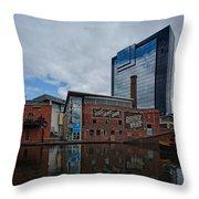 Gas Street Basin Birmingham Throw Pillow