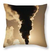 Gaseous Air Pollution Throw Pillow