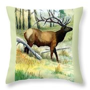 Gash Flats Bull Throw Pillow