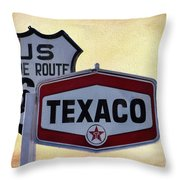 Gasoline Signs Throw Pillow