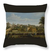Gaspar Van Wittel  Called Vanvitelli Amersfoort 1652    1736   Rome  A View Of The Church Of Santi M Throw Pillow