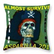 Gasparilla 2016 T Shirt Throw Pillow