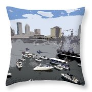 Gasparilla Invasion Work Number 3 Throw Pillow