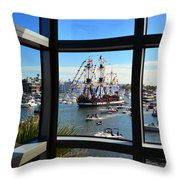 Gasparilla Through The Looking Glass Throw Pillow