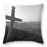 Gaspe Cemetery Throw Pillow