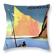 Gaspe Peninsula, Coast, Canada Throw Pillow