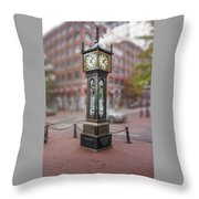Gastown Steam Clock Throw Pillow