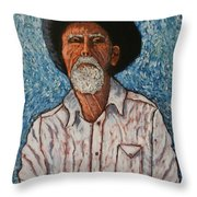 The Last Ride.out Of Chute #1 Throw Pillow