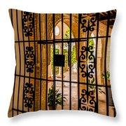 Gate - Alcazar Of Seville - Seville Spain Throw Pillow