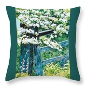 Gate And Blossom Throw Pillow