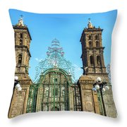 Gate And Cathedral Throw Pillow