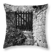 Gate At Dunguaire Castle Kinvara Ireland Throw Pillow