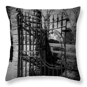 Gate In Macroom Ireland Throw Pillow