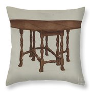 Gate-legged Table Throw Pillow