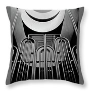 Gate, Marin County Government Complex Throw Pillow